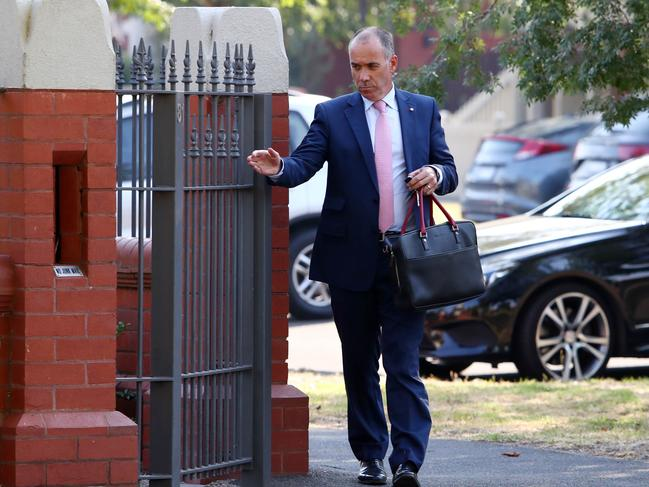 NAB CEO Andrew Thorburn arrives at his $7 million Melbourne home after being criticised by the banking royal commissioner, Ken Hayne. Picture: Aaron Francis