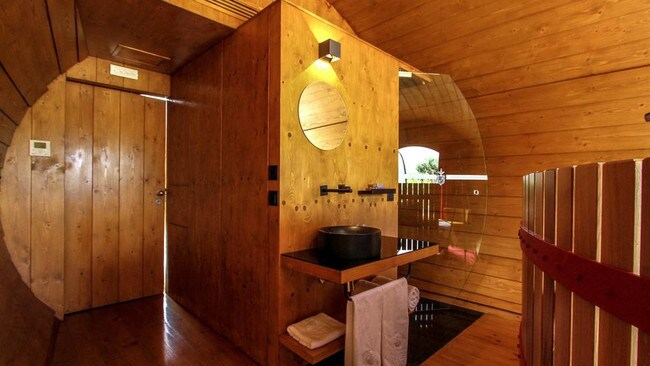 These self-contained cabins come fully equipped with everything you'd expect in a regular hotel room. Picture: Quinta Da Pacheca