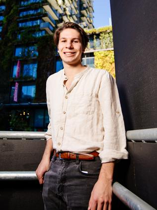 Bachelor of Design in Architecture student Caleb Niethe is a finalist in the Bradfield Scholarship. Picture: Jonathan Ng