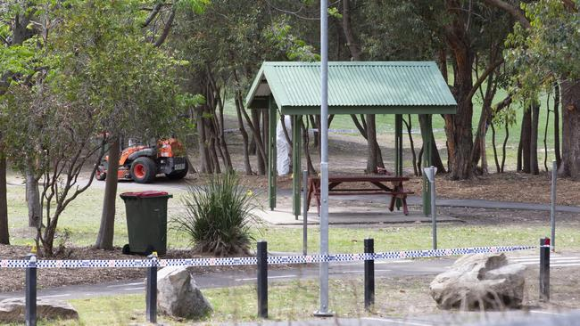 The body of a woman was found at Buffalo Creek reserve, a playground at Hunters Hill Picture: Jenny Evans.