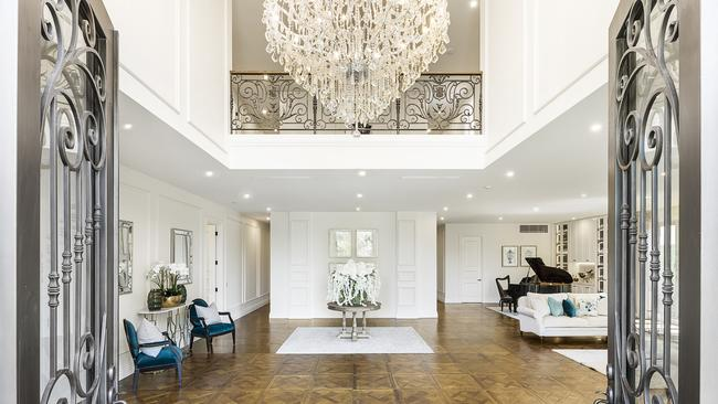 The dramatic entry hall.
