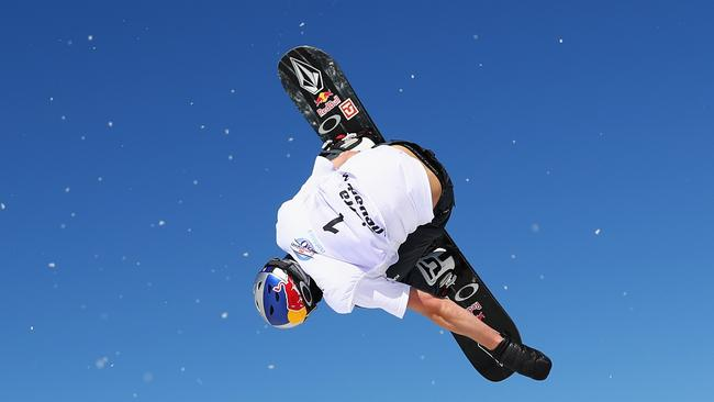 Scotty James of Australia competes during the Men's Snowboard Halfpipe Qualification on day three of the FIS Freestyle Ski and Snowboard World Championships.