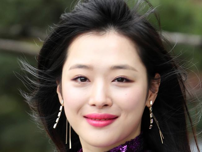 Sulli, a popular K-pop star who had long been the target of abusive online comments was found dead at her home on October 14, South Korean police said. Picture: AFP