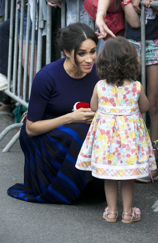19d49b54a9 Meghan had an adorable exchange with a young fan. Picture: Alan Gibson-Pool