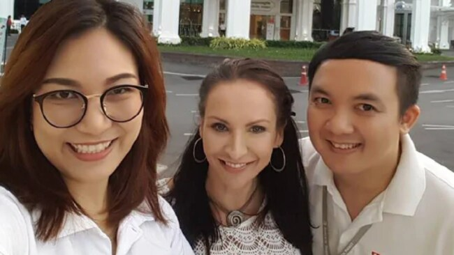 Ms Licciardo pictured outside Bangkok Hospital where she used to take clients for cosmetic surgery with her former business.Source: Facebook