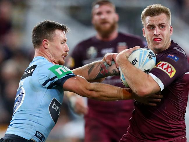 While the stream quality got better, the pain got worse for fans south of the border as the match turned in Queensland's favour after the half-time break. Picture: Chris Hyde/Getty Images