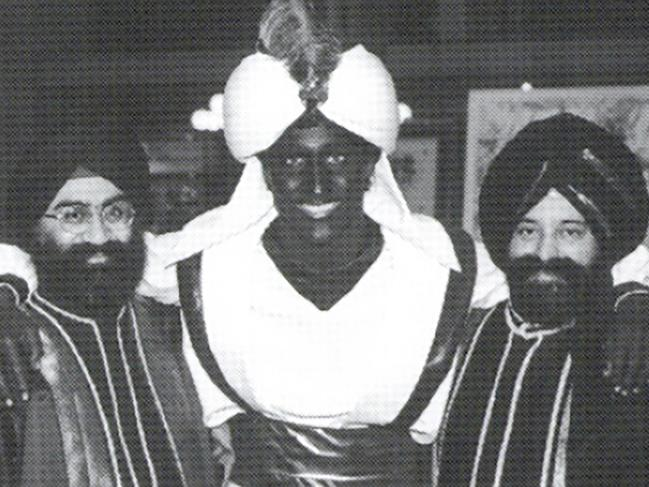 The 2001 photo, which appeared in a newsletter from the West Point Grey Academy, shows a costumed Justin Trudeau, his face and hands darkened by makeup, attending an 'Arabian Nights' gala.
