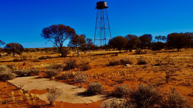 Abandoned cricket pitch at Big Bell, a ghost town in WA's Murchison region. Picture: Les Everett