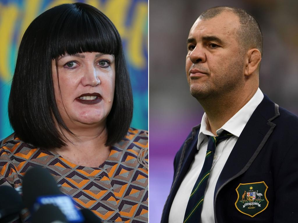 Michael Cheika said he had no relationship with Rugby Australia boss Raelene Castle.