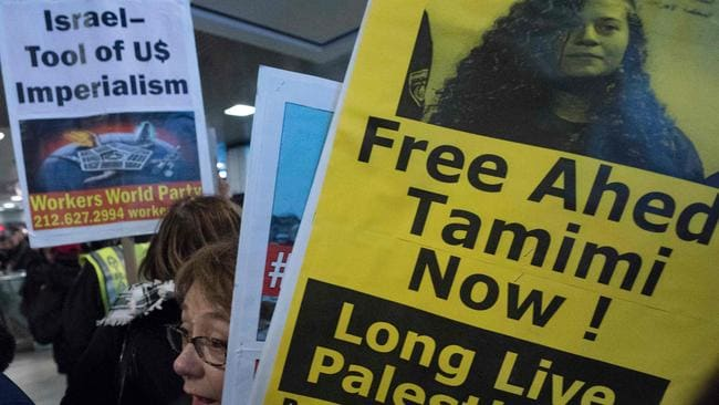 Protesters around the world are calling for the release of Ahed Tamimi.