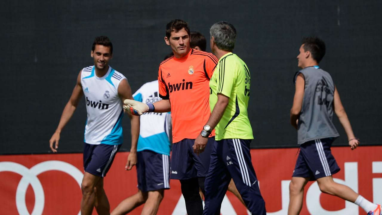 Mourinho and Iker Casillas had a famous falling out at Real Madrid.