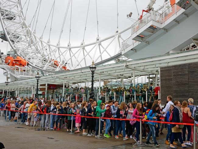 Visitors can face 2.5-hour queues to ride the London Eye.
