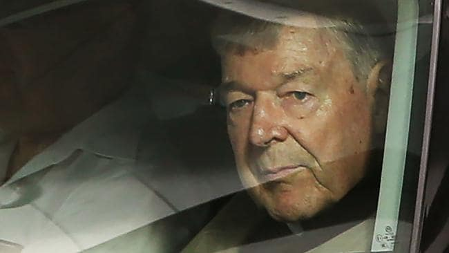 George Pell leaves the County Court of Victoria in Melbourne in February. Picture: Getty