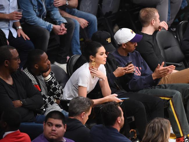 Of course Kendall Jenner had prime seats at the Staples Center. Picture: Getty Images/AFP