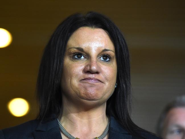 Tasmanian Senator Jacqui Lambie has accused David Morrison and other Defence Force chiefs of covering up abuse. Picture: AAP /Mick Tsikas