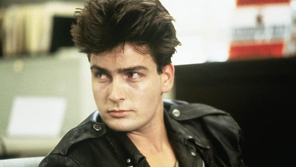 Charlie Sheen in 1986. Picture: Supplied.
