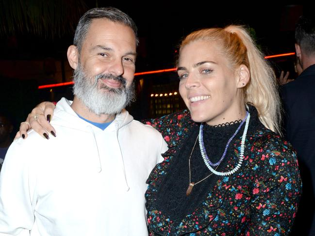 LOS ANGELES, CA - SEPTEMBER 25: Marc Silverstein and Busy Philipps attend the afterparty for LA Film Festival World Premiere Gala Screening Of THE OATH on September 25, 2018 in Los Angeles, California. (Photo by Vivien Killilea/Getty Images for Roadside Attractions)