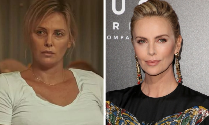 How Charlize Theron gained 23 kilos for new role as an overworked mum