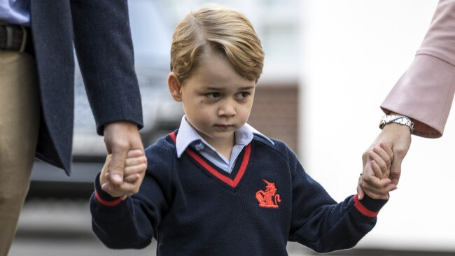 Prince George on his first day of school. Photo by Richard Pohle - WPA Pool Source: Getty Images