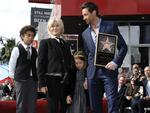 With their kids... From left to right, Oscar Jackman, actress Deborra-Lee Furness, Ava Jackman, and actor Hugh Jackman pose together at Hugh Jackman's star ceremony at the Hollywood Walk of Fame 13 Dec 2012, in Los Angeles. Picture: Dan Steinberg/Invision/AP