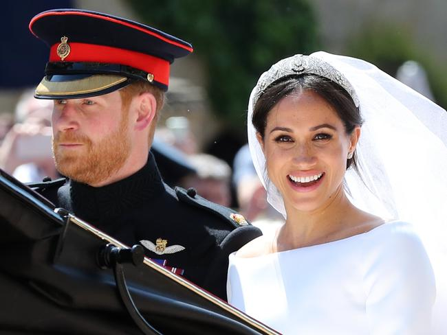 The Duchess of Sussex has embraced the natural look, which has started a worldwide beauty trend. Picture: Gareth Fuller-WPA/Getty Images