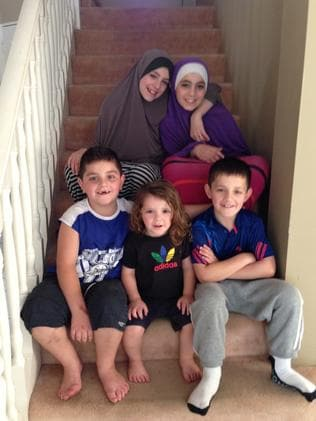 The Sharrouf children in 2014 (clockwise from top left) Zaynab, Hoda, Abdullah, Humzeh and Zarqawi. Abudullah and Zarqawi died in Syria.