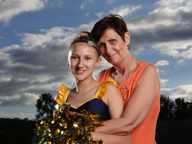 Margaret Parker and her daughter Grace. Picture: Luke Marsden.