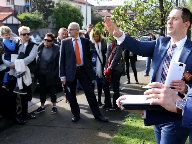 Auctioneer Adrian Bo from McGrath Coogee sold a unit in Randwick, Sydney, for $1.425 million last August Picture: Adam Taylor