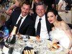 Adam Sandler, Ted Sarandos and Angelina Jolie attend the 23rd Annual Critics' Choice Awards on January 11, 2018 in Santa Monica, California. Picture: Getty