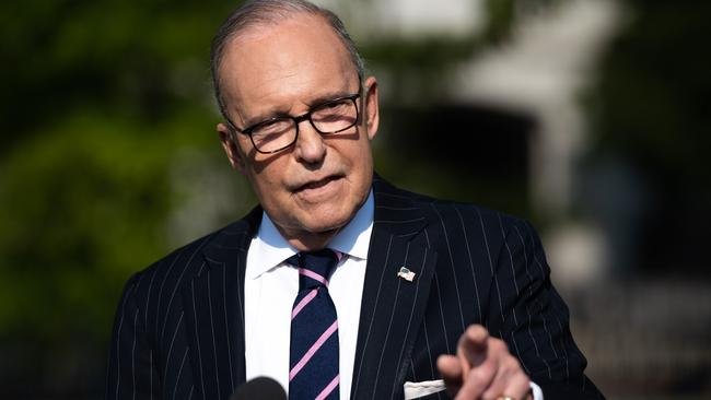 White House economic adviser Larry Kudlow has denied a recession is on the cards. Picture: Saul Loeb/AFP