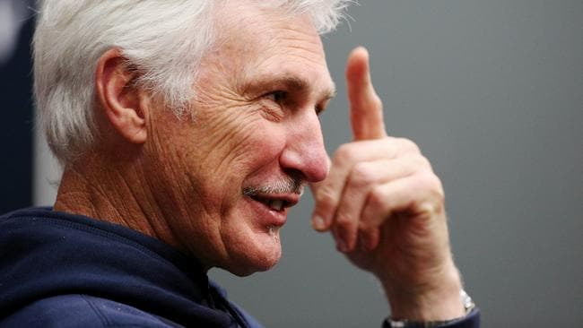 Carlton coach Mick Malthouse is taking a new approach with his Blues. Picture: Colleen Petch