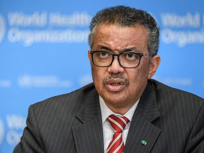 More than 74,000 people have signed a petition calling for Dr Tedros' resignation. Picture: Fabrice Coffrini/AFP