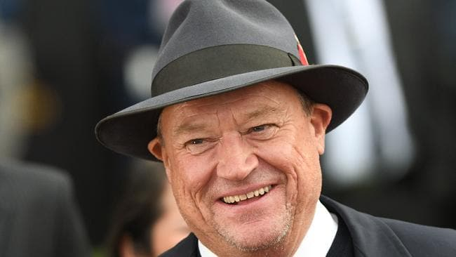 Tony McEvoy was all smiles at Flemington. Picture: Vince Caligiuri/Getty Images