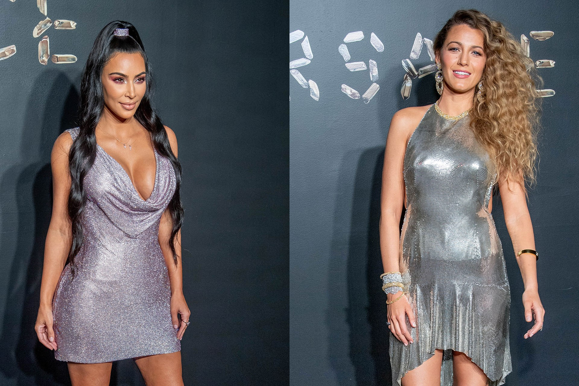 Kim Kardashian West and Blake Lively were twinning at the Versace pre-fall show