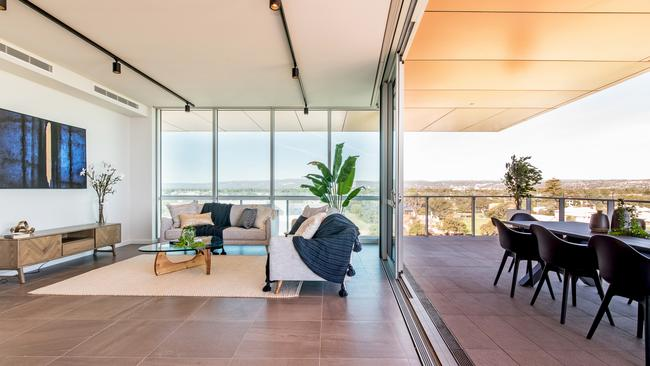 The Brighton Dunes penthouse apartment. Supplied by Harcourts Packham.