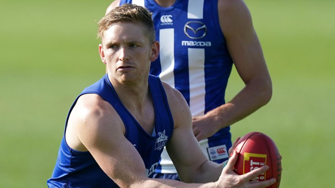 Jack Ziebell at training in January.
