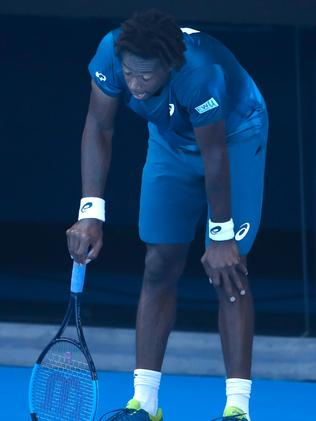 Gael Monfils in a world of pain.