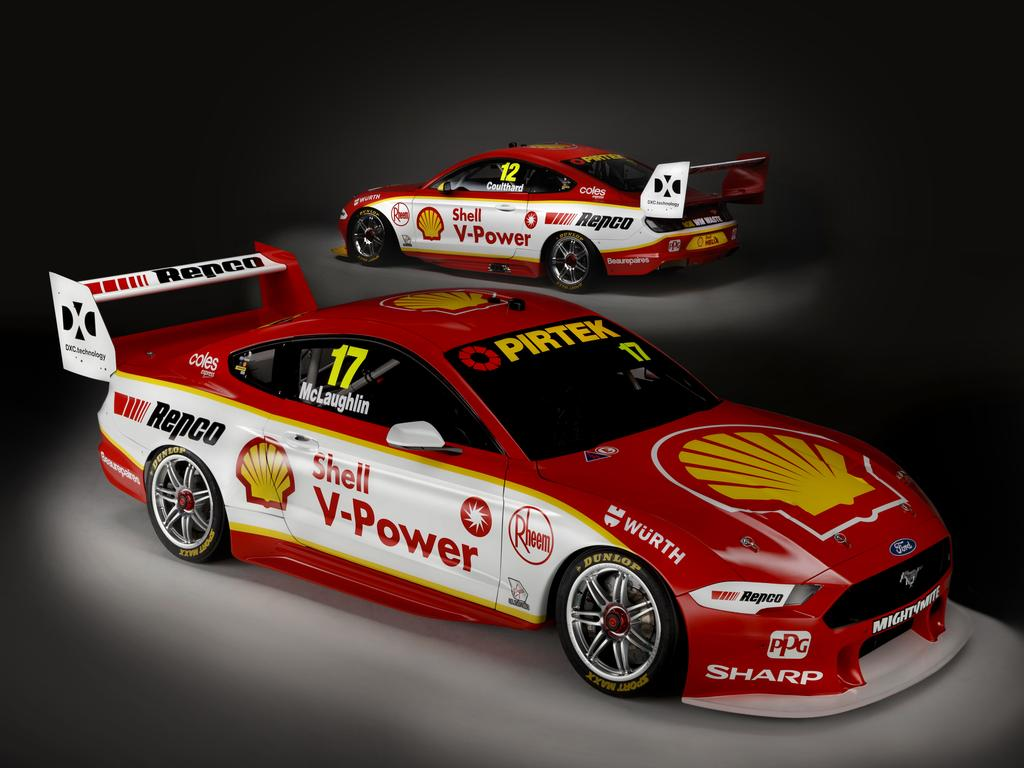 Shell V-Power Racing Team has unveiled their 2019 livery with the new Ford Mustang. Picture: DJR Team Penske