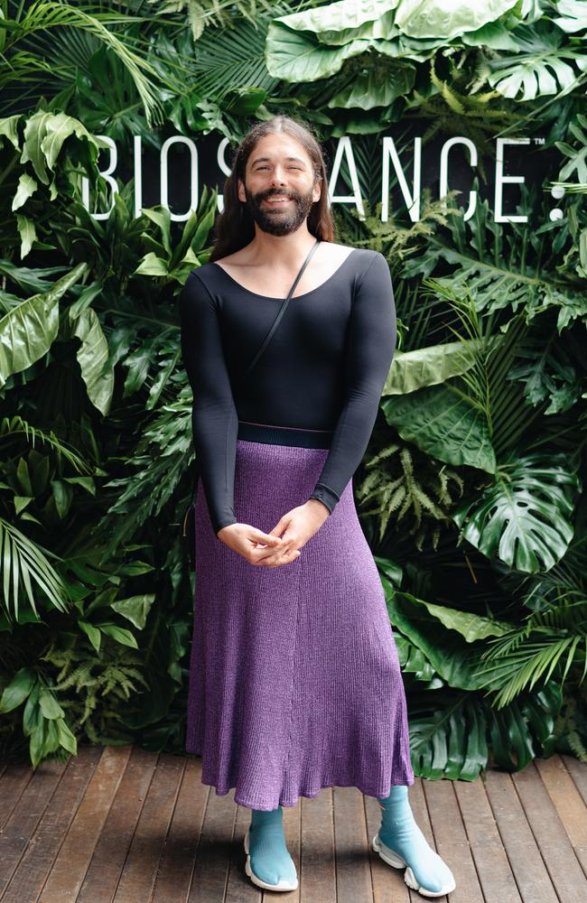 American television personality Jonathan Van Ness turned to products with minimal ingredients and found a 'clean' brand called Biossance. Picture: Supplied
