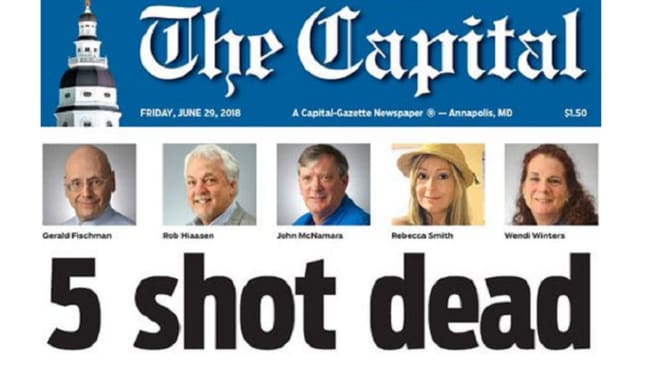 The surviving reporters still managed to publish the following day's paper after the attack.