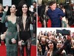 The Veronicas arrive at this year's Aria Awards in Sydney, greeting comedian Chris Lilly and taking selfies with fans as they walk the red carpet. Pictures: Getty