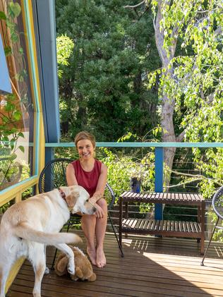 Ari Mueller-Menendez, ceramist and midwife, at her dome home. Photo: Nick Clayton.