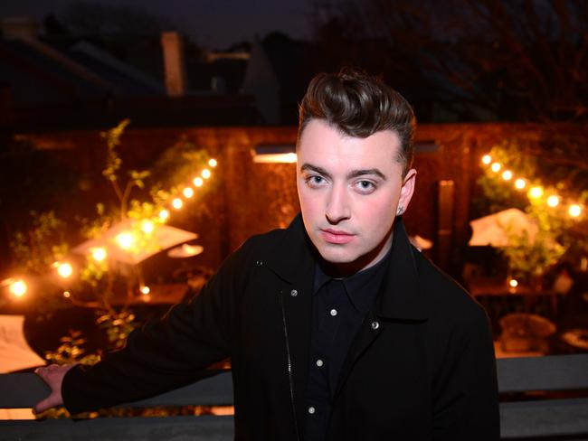 Singer Sam Smith at the Nova Red Room in Sydney. Picture: Jeremy Piper