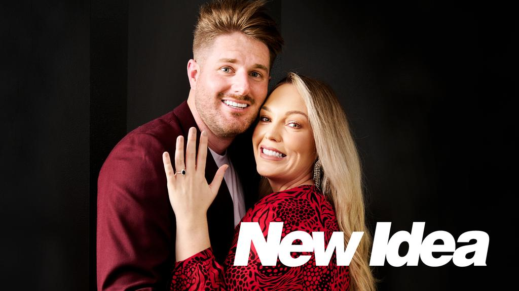 Mel flashed her engagement ring in the New Idea photo shoot released on Monday. Picture: Supplied.