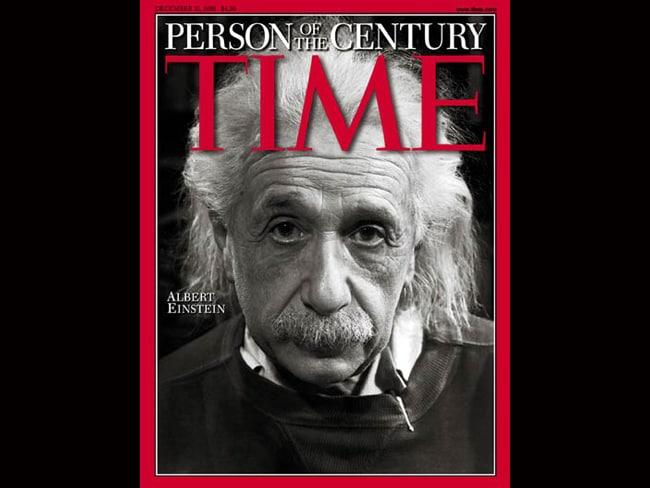 TIME Person of the Century: Albert Einstein, 1999. Photo: TIME