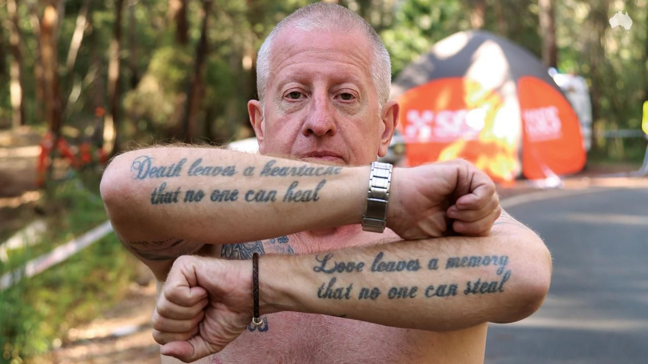 Tattooed grief: Mark Leveson's tribute to his son