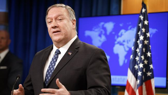 US Secretary of State Mike Pompeo offers condolences to Australia on January 7, 2020, at the State Department in Washington. Picture: AP /Jacquelyn Martin