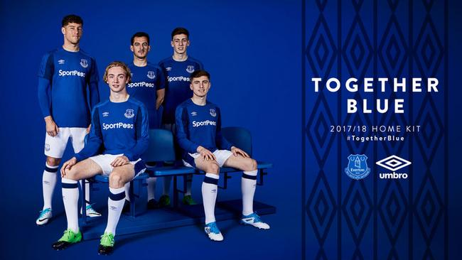 Everton's new home kit for 2017-18.