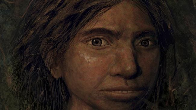 A portrait of a juvenile female Denisovan based on a skeletal profile reconstructed from ancient DNA methylation maps. Picture: Maayan Harel/Hebrew University in Jerusalem via AP