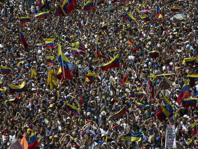 People have been killed in crackdowns on anti-government protests. Picture: AP/Rodrigo Abd